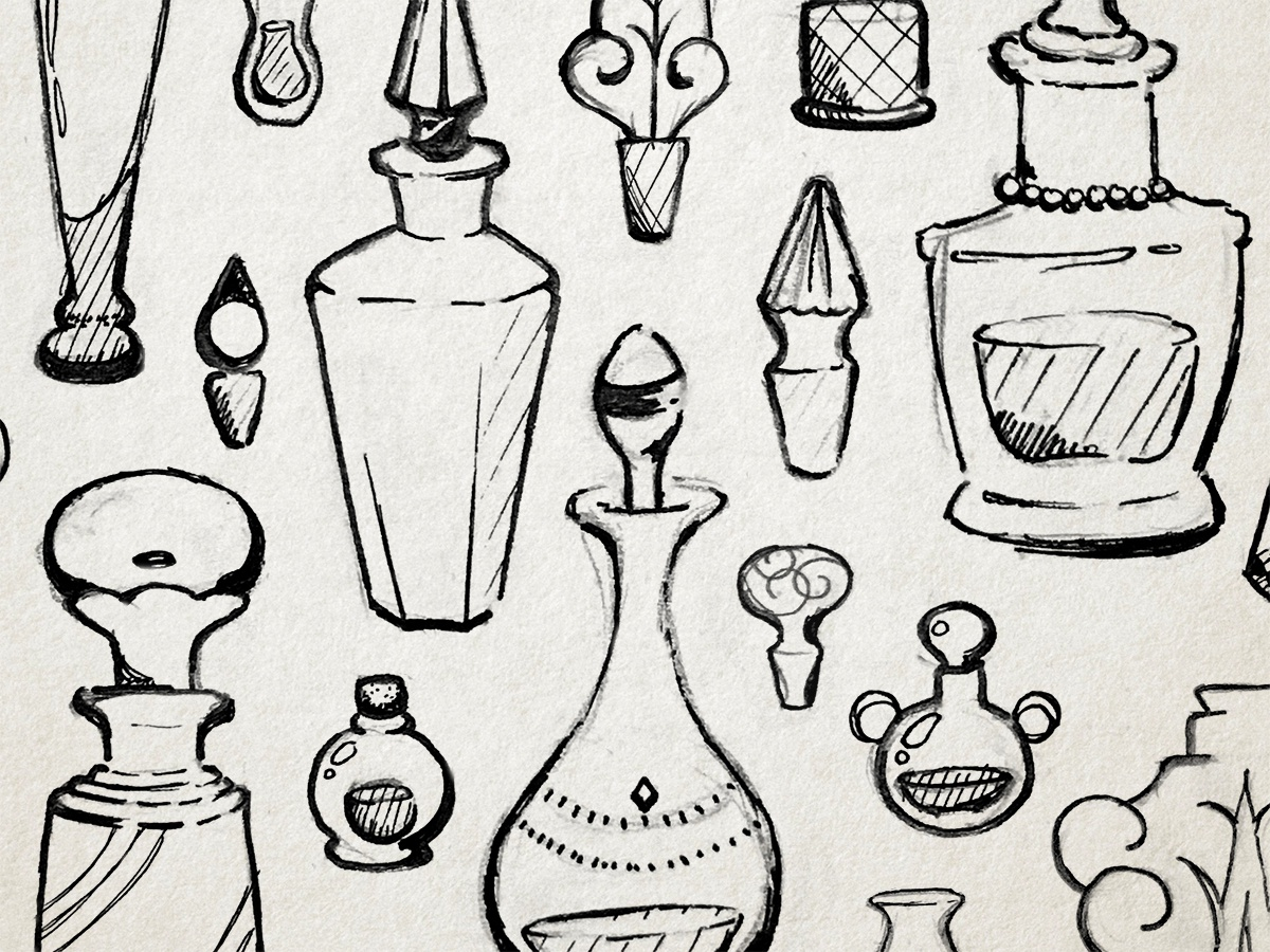 Poisonous Perfume Bottles by Damaris Alfonso on Dribbble