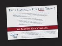 Learn a Language ad for our veterans.