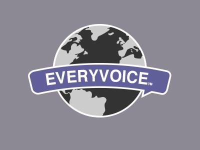 Another possible logo logo purple world globe speech bubble