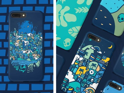 Skullcandy x Threadless #feelcurious phone cases threadless exploration curious landscape city buildings drawing doodle illustration phone case phone cases