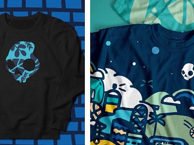 Skullcandy x Threadless crewneck tee shirt tee apparel design apparel