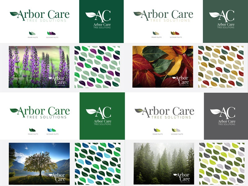 Arbor Care Tree Solutions Color Trials color theory color palettes corporate identity brand development logo design branding