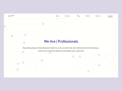 About us page website animation uidesign about us company