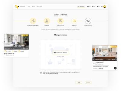 Real Estate, stages of listing a property product design stages buy rent property