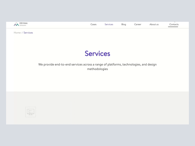 Services page design clear services page services illustration animation website webdesign ui uidesign