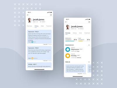 Healthcare app app healthcare clear uidesign ui