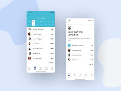 Healthcare app healthcare clear app design app ui uidesign