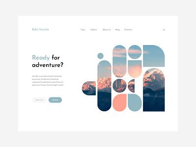 Travel website concept hero image landingpage trips webdesign ui clear uidesign