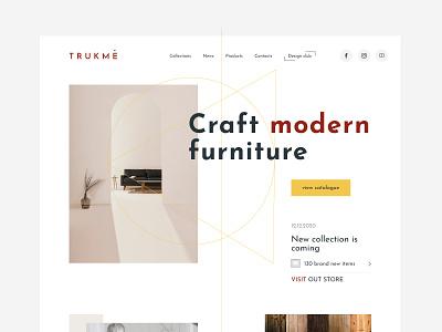 Trukme material provider furniture webdesign clear ui uidesign