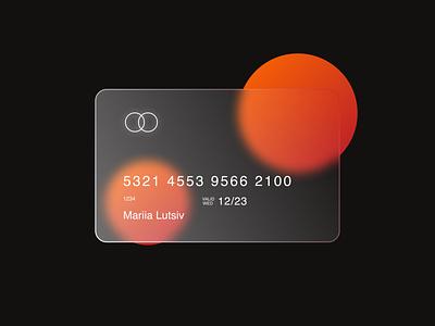 Glass card rebound cards ui ui clear uidesign