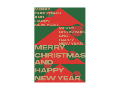 Merry Christmas poster uidesign tree merry xmas poster design