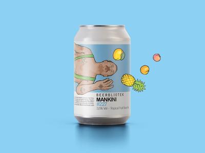 Mankini beer label beer branding beer art beer can can art can design branding design graphic design illustration packaging design packaging can