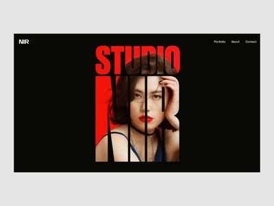 Production studio studio ux interaction video black clean homepage animation website web ui minimalism interface design