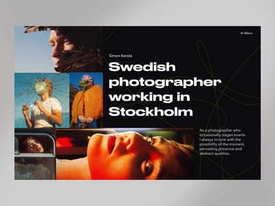 Portfolio page webdesign web design ux black typography clean website ui web minimalism interface design