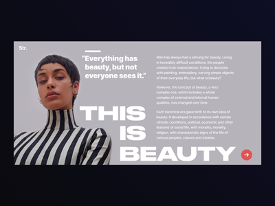 This is Beauty grey longread article typography clean website ui web minimalism interface design