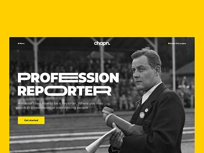 Master class minimalism product design design journalist journalism homepage clean website web ux ui interface