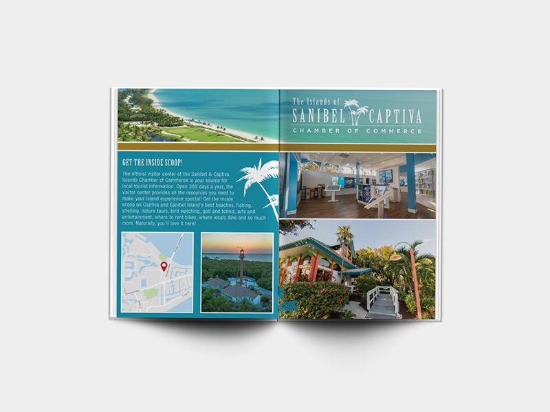 Magazine Spread - Sanibel Captiva graphic design swfl florida sanibel design ad spread magazine