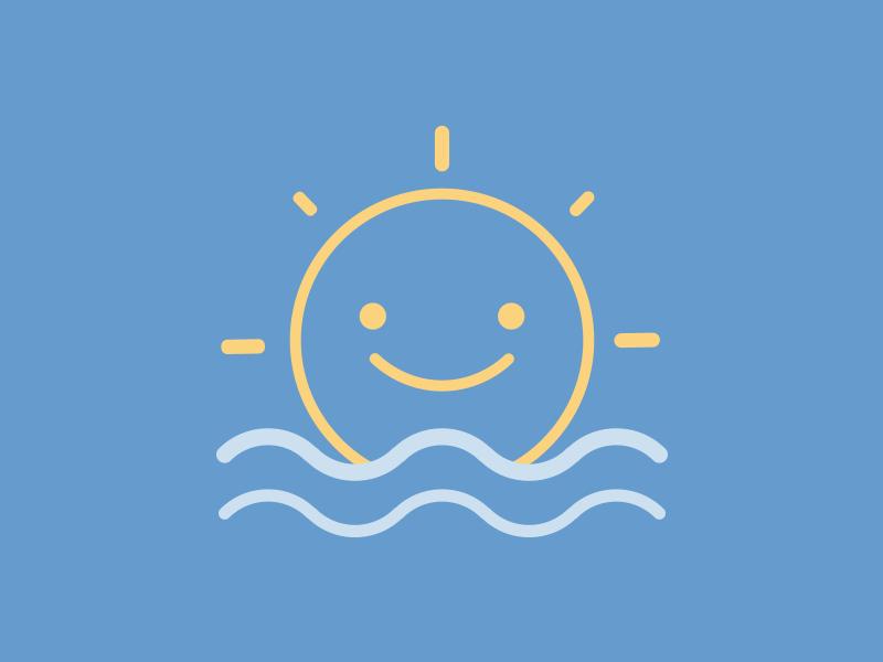 Happy Sun weather sea icon sun happy