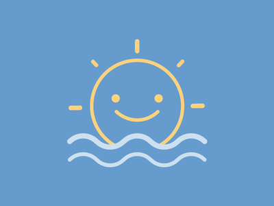 Happy Sun weather sea icon sun happy