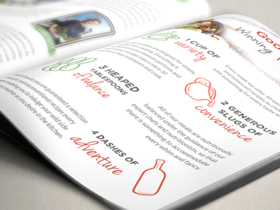 Gousto Welcome Booklet ingredients page booklet recipe food