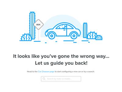 404 Error Page desert lost car 404 page error