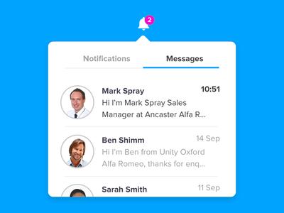 Notifications dropdown ui messages notifications