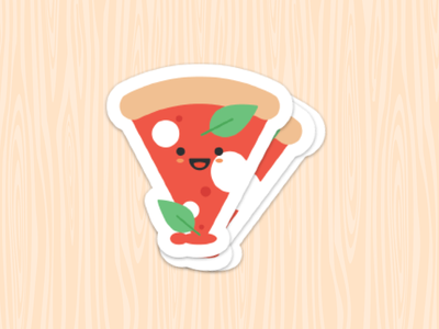 Pizza Sticker startup food stickermule sticker pizza