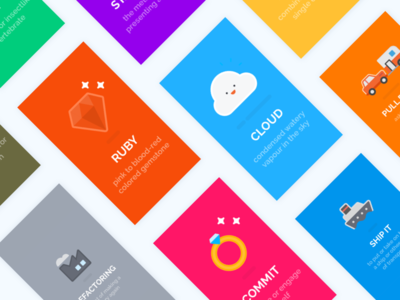 Visually Defined: Tech Jargon cloud ruby cards cute funny jargon tech illustration