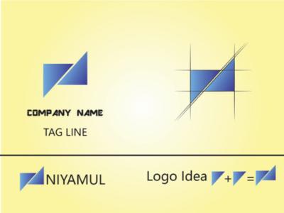 N letter logo banner illustration ui ux branding brand logo designer logo maker logo
