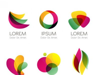 colorful logos abstract style