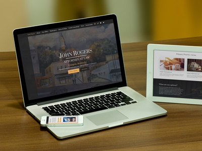 John Rogers Attorney at Law WordPress Web Design wordpress responsive uxdesign design ux layout logo business divi law attorney