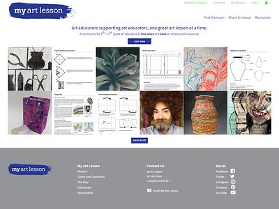 My Art Lesson WordPress Web Design art divi wordpress development community wordpress design wordpress