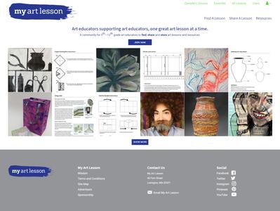 My Art Lesson WordPress Web Design