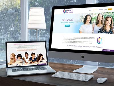Literacy Partners WordPress Web Design business wordpress design divi uxdesign mobile responsive ux webdesigner web design wordpress