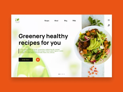 Greenery Veggies Landing Page app minimal web sri lanka keto diet keto brunch lunch food uidesign ui vegetable veggie healthyfood green healthy