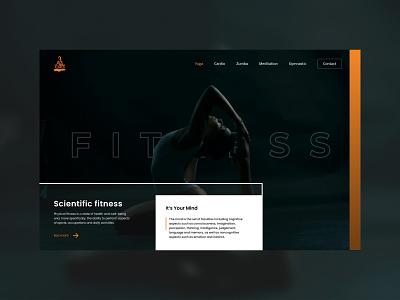 Aqua Fitness - Personal Fitness Training Landing Page physical fitness web design ui meditation diet fitness srilanka zumba cardio gym yoga