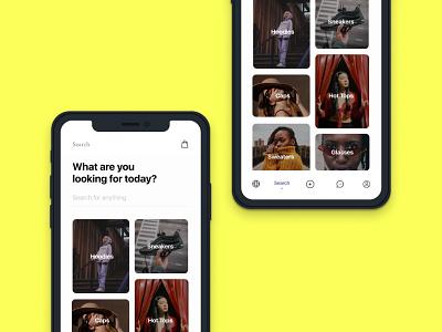 Fashion App Search Screen sri lanka design minimal search app shoes shopping clothes fashion