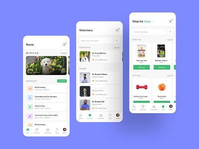 Paws 'N Furs - Pet Mobile App Design clinic pet shop minimal sri lanka cats web design puppy dogs app pet animal