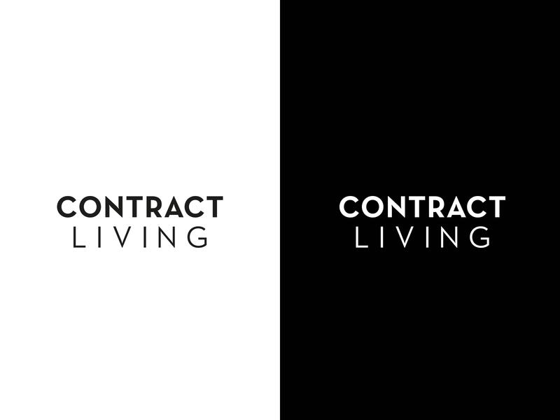 Contract living typography logotype branding