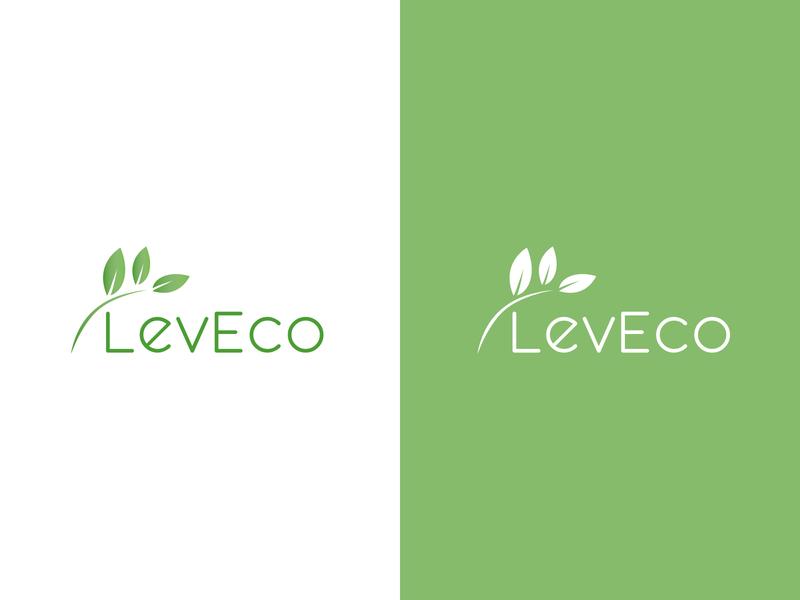 LevEco logo vector illustration logotype branding