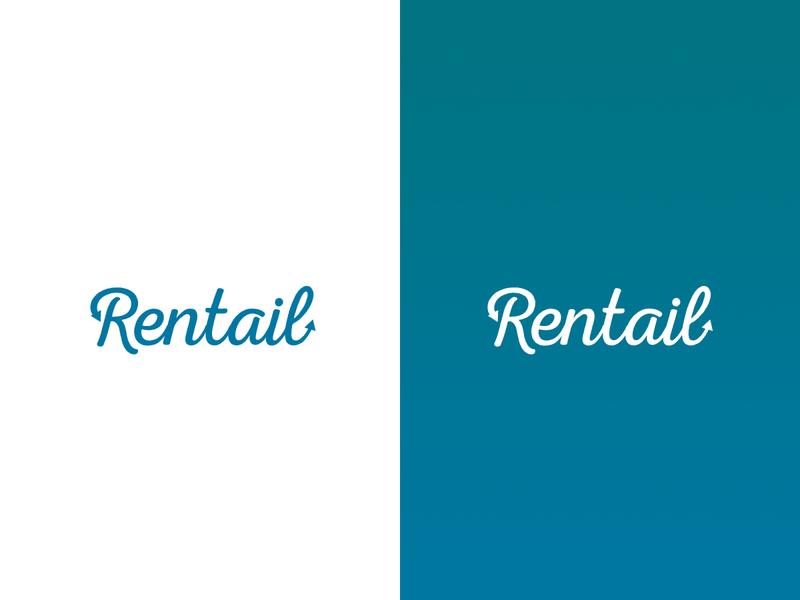Rentail - Logotyp illustration branding logo design logotype