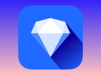 Colour Heist logo madebyew diamond puzzle ios app icon jewel gem