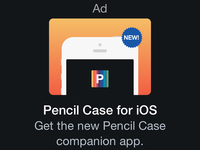 Pencil Case Ad