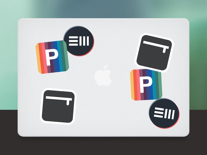 Stickers branding stickers ew digital pencil case
