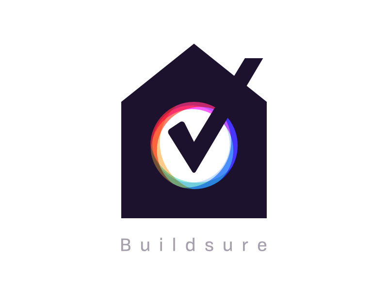 Buildsure Logo madebyew ewdigital sure build tick home house logo builsure
