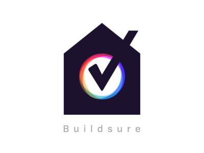 Buildsure Logo madebyew ewdigital sure build tick home house logo builsure