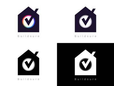 Buildsure Logo Variants builsure logo house home tick build sure ewdigital madebyew