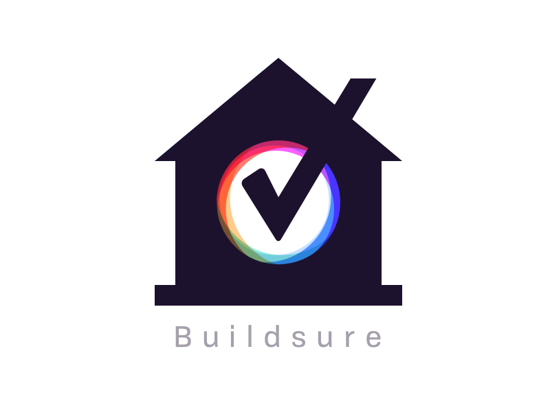 Logo Buildsure - Final madebyew ewdigital sure build tick home house logo builsure