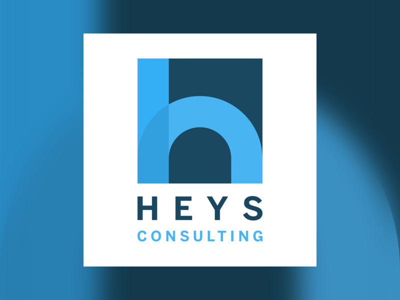Heys Consulting Logo brand blue heys h logo