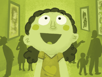 Girl in museum